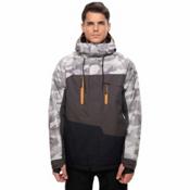 686 Geo Mens Insulated Snowboard Jacket, Grey Camo Colorblock, medium