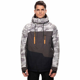686 Geo Mens Insulated Snowboard Jacket, Grey Camo Colorblock, 256