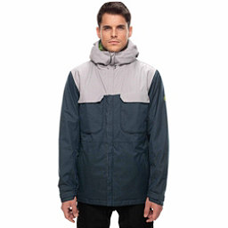 686 Moniker Mens Insulated Snowboard Jacket, Dark Denim Melange Colorblock, 256