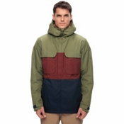 686 Moniker Mens Insulated Snowboard Jacket, Fatigue Colorblock, medium