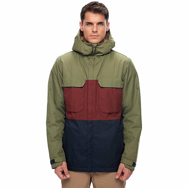 686 Moniker Mens Insulated Snowboard Jacket, Fatigue Colorblock, 600