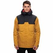 686 Moniker Mens Insulated Snowboard Jacket, Golden Colorblock, medium