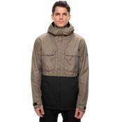 686 Moniker Mens Insulated Snowboard Jacket, Khaki Melange Colorblock, medium