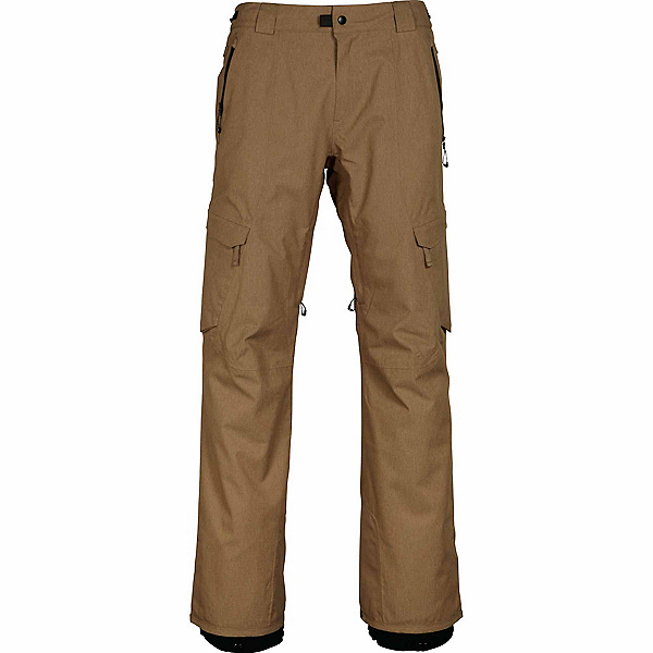 686 GLCR Quantum Thermagraph Mens Snowboard Pants, Khaki Ripstop, 600