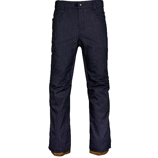 686 Raw Insulated Mens Snowboard Pants, Navy Denim, 600