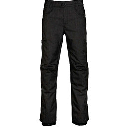 686 Raw Insulated Mens Snowboard Pants, Black Denim, 256