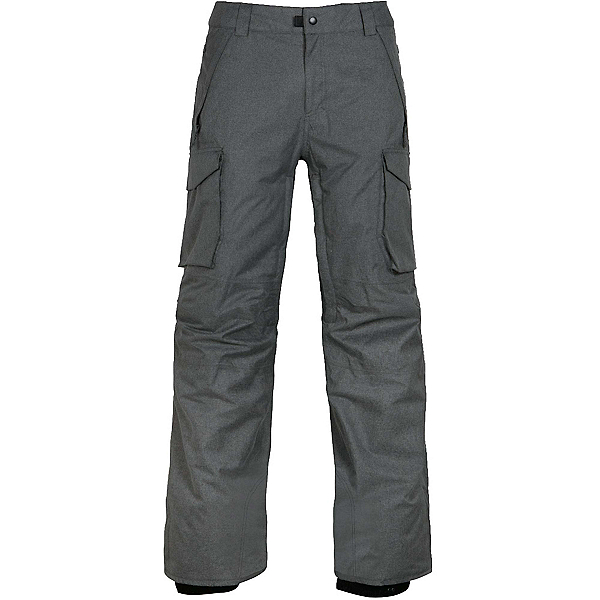 686 Infinity Insulated Cargo Mens Snowboard Pants, Charcoal Melange, 600
