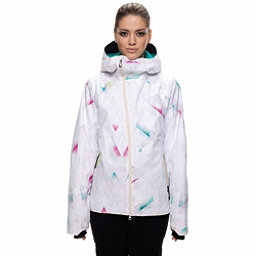 686 GLCR Hydra Womens Insulated Snowboard Jacket, White Diamond Fade, 256