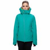 686 GLCR Hydra Womens Insulated Snowboard Jacket, Teal Twill, medium
