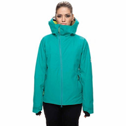 686 GLCR Hydra Womens Insulated Snowboard Jacket, Teal Twill, 256
