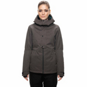 686 Rumor Womens Insulated Snowboard Jacket, Charcoal Slub, medium