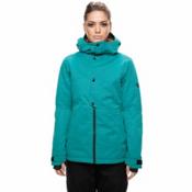 686 Rumor Womens Insulated Snowboard Jacket, Teal Slub, medium