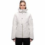 686 Rumor Womens Insulated Snowboard Jacket, White Slub, medium