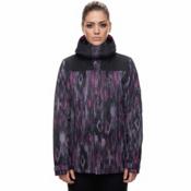 686 Eden Womens Insulated Snowboard Jacket, Diamond Ikat Print, medium