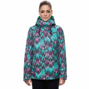 686 Eden Womens Insulated Snowboard Jacket, Kaleidoscope Print, medium