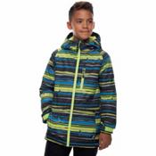 686 Jinx Insulated Boys Snowboard Jacket, Bluebird Stripe Print, medium