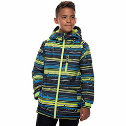 686 Jinx Insulated Boys Snowboard Jacket, Bluebird Stripe Print, 256