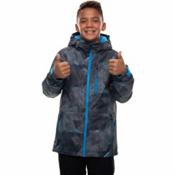 686 Jinx Insulated Boys Snowboard Jacket, Charcoal Metric Camo Print, medium