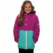 686 Belle Insulated Girls Snowboard Jacket, Fuchsia Colorblock, medium