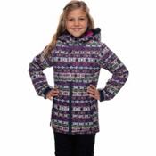 686 Belle Insulated Girls Snowboard Jacket, Nordic Print, medium