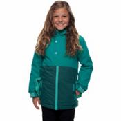 686 Belle Insulated Girls Snowboard Jacket, Teal, medium