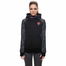 686 Cora Bonded Fleece Womens Hoodie, Black Camo Rose Print, 256