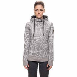 686 Cora Bonded Fleece Womens Hoodie, Grey Totem Print, 256