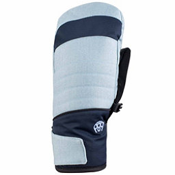 686 Majesty infiLOFT Womens Mittens, Light Blue Denim, 256