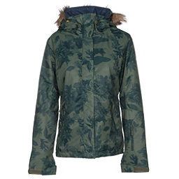 Roxy Jet Ski w/Faux Fur Womens Insulated Snowboard Jacket, Dusty Ivy-Sylvan Forest, 256