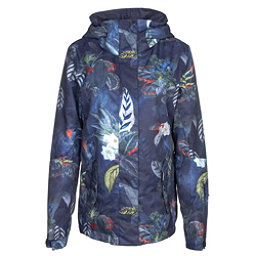 Roxy Jetty Womens Insulated Snowboard Jacket, Peacoat-Orissa Floral, 256