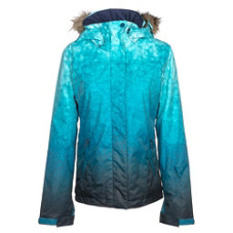 Roxy Jet Ski SE w/Faux Fur Womens Insulated Snowboard Jacket, Ink Blue-Solargradient, 256