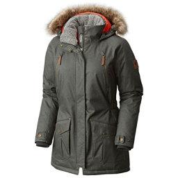 Columbia Barlow Pass 550 TurboDown Plus w/Faux Fur Womens Jacket, Gravel, 256