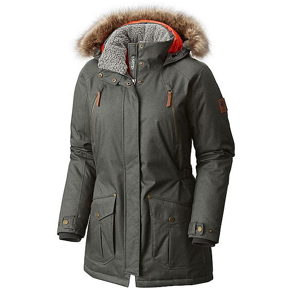 Columbia Barlow Pass 550 TurboDown Plus w/Faux Fur Womens Jacket, Gravel, 600