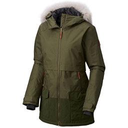 Columbia Catacomb Crest Parka w/Faux Fur Womens Jacket, Surplus Green, 256