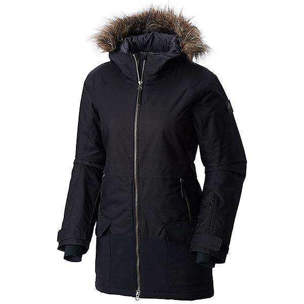 Columbia Catacomb Crest Parka Plus w/Faux Fur Womens Jacket, Black, 600