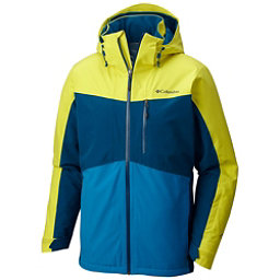 Columbia Wild Card Mens Insulated Ski Jacket, Acid Yellow-Phoenix Blue, 256