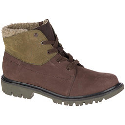 Caterpillar Fret Faux Fur WP Womens Boots, Coffee Bean-Dark Olive, 256