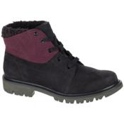 Caterpillar Fret Faux Fur WP Womens Boots, Black-Wine Tasting, medium