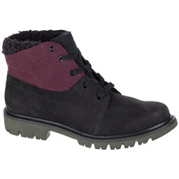 Caterpillar Fret Faux Fur WP Womens Boots, Black-Wine Tasting, 256