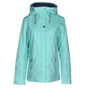 Roxy Billie Womens Insulated Snowboard Jacket, Aruba Blue, medium