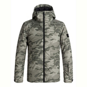 Quiksilver Mission Printed Boys Snowboard Jacket, Grape Leaf Camokazi, medium