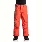 Quiksilver Estate Kids Snowboard Pants, Mandarin Red, medium