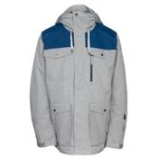 Quiksilver Raft Mens Insulated Snowboard Jacket, Grey Heather, medium