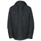 Quiksilver Raft Mens Insulated Snowboard Jacket, Black, medium