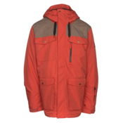 Quiksilver Raft Mens Insulated Snowboard Jacket, Ketchup Red, medium