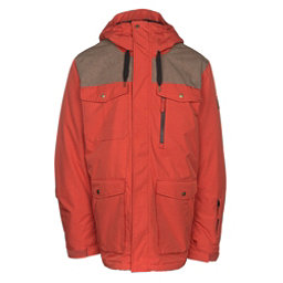 Quiksilver Raft Mens Insulated Snowboard Jacket, Ketchup Red, 256