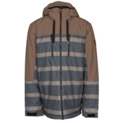 Quiksilver Mission Block Mens Insulated Snowboard Jacket, Cub Double Striped, medium