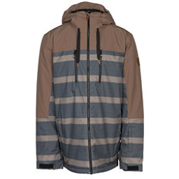 Quiksilver Mission Block Mens Insulated Snowboard Jacket, Cub Double Striped, 256