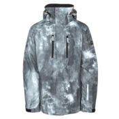 Quiksilver Mission Printed Mens Insulated Snowboard Jacket, Electric Event, medium