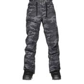 Quiksilver Forest Oak Mens Snowboard Pants, Black Grey Camokazi, medium